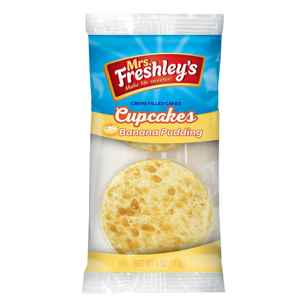 Mrs. Freshley's Banana Pudding Cupcakes Twin Pack
