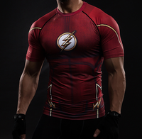 The Flash Compression Gym Top - Hero Cufflinks