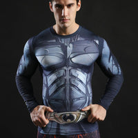 Batman Long Sleeve Compression Gym Top - Hero Cufflinks