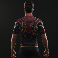 Iron Spiderman Compression Gym Top - Hero Cufflinks