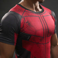 Deadpool Compression Gym Top - Hero Cufflinks