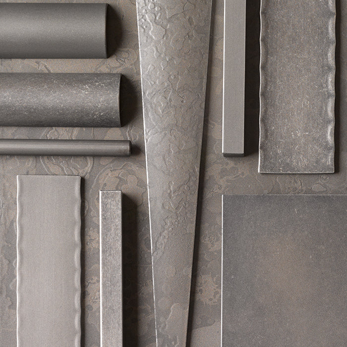Burnished Steel Finish Swatch