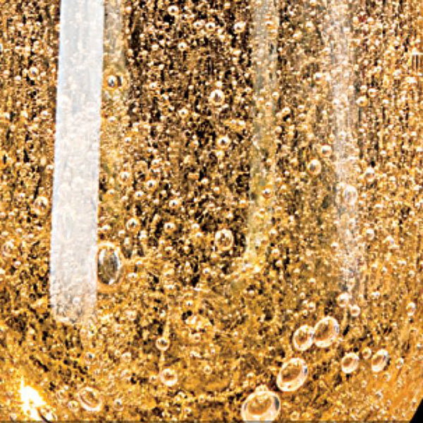 Gold Bubble Glass Glass
