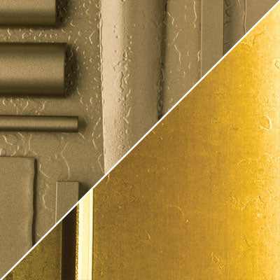 Gold with Brass Accent Finish Swatch