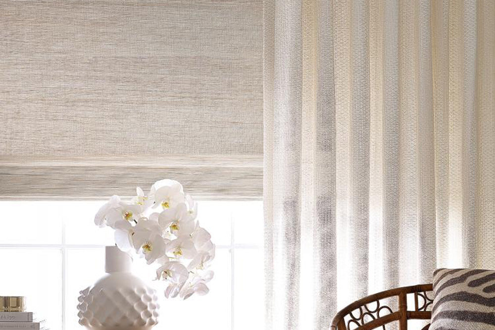 Handwoven shades and bespoke drapery by Hartmann&Forbes.