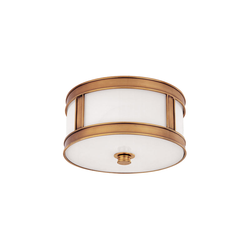 Hudson Valley - 5510-AGB - One Light Flush Mount - Patterson - Aged Brass