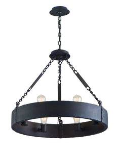 Jackson Six Light Chandelier by Troy Lighting