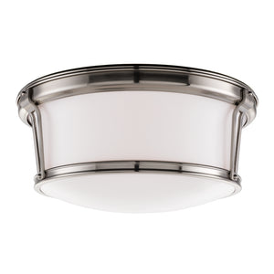 Hudson Valley - 6515-SN - Three Light Flush Mount - Newport - Satin Nickel