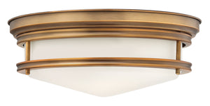 Hinkley - 3301BR - Three Light Flush Mount - Hadley - Brushed Bronze