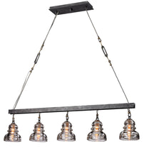 Menlo Park Five Light Linear Pendant by Troy Lighting