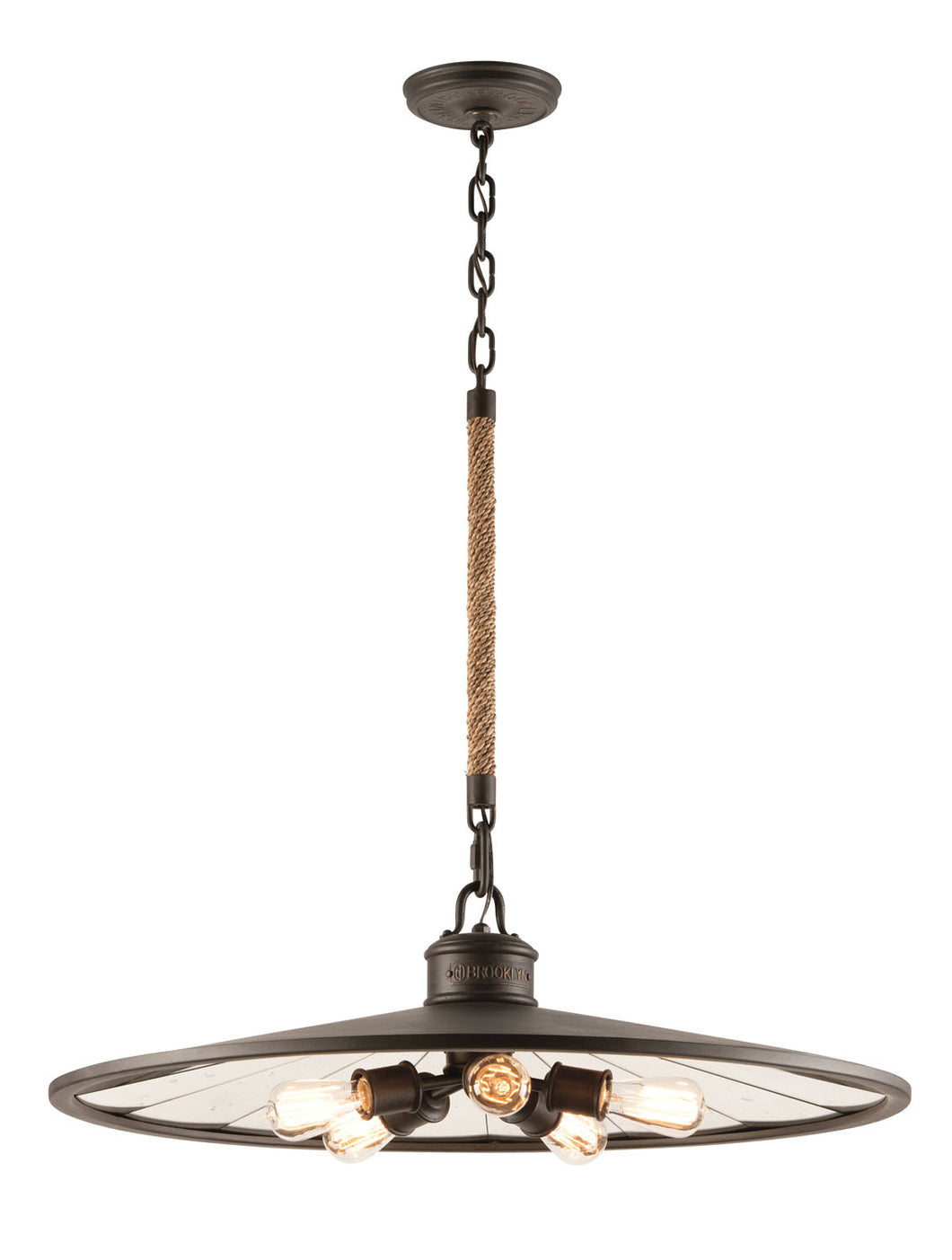 Brooklyn Five Light Pendant by Troy Lighting