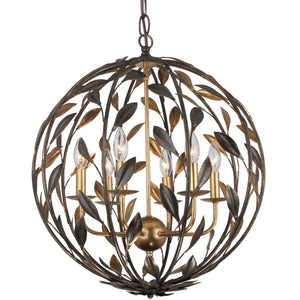 Broche Six Light Chandelier by Crystorama