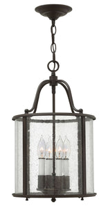 Hinkley - 3474OB - Four Light Foyer Pendant - Gentry - Olde Bronze