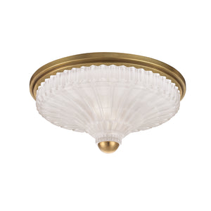 Hudson Valley - 2513-AGB - Two Light Flush Mount - Paris - Aged Brass