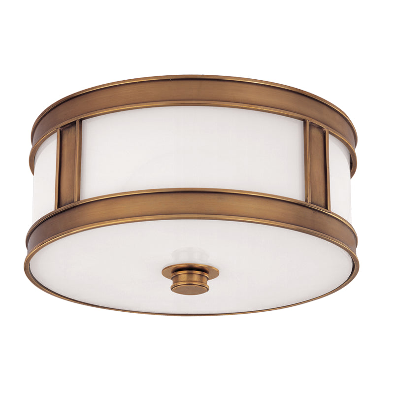 Hudson Valley - 5513-AGB - Two Light Flush Mount - Patterson - Aged Brass