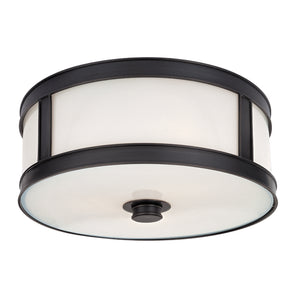 Hudson Valley - 5513-OB - Two Light Flush Mount - Patterson - Old Bronze