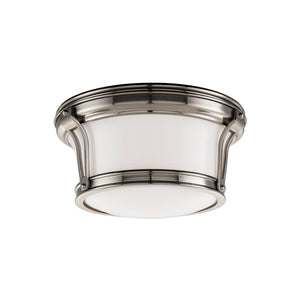 Hudson Valley - 6510-SN - Two Light Flush Mount - Newport - Satin Nickel
