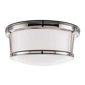 Hudson Valley - 6515-PN - Three Light Flush Mount - Newport - Polished Nickel