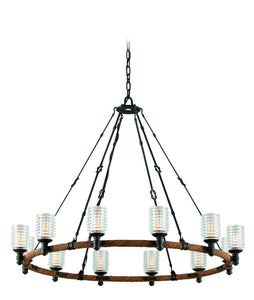 Embarcadero 12 Light Chandelier by Troy Lighting