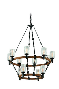 Embarcadero 12 Light Two-Tier Chandelier by Troy Lighting