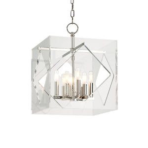 Hudson Valley - 5916-PN - Eight Light Pendant - Travis - Polished Nickel