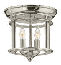 Hinkley - 3472PN - Two Light Flush Mount - Gentry - Polished Nickel