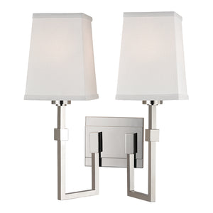 Fletcher Two Light Wall Sconce by Hudson Valley