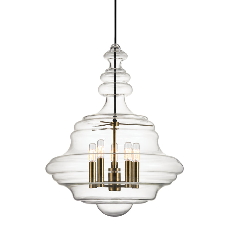 Washington Five Light Pendant by Hudson Valley