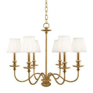 Menlo Park Six Light Chandelier by Hudson Valley