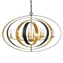 Luna Eight Light Oval Chandelier