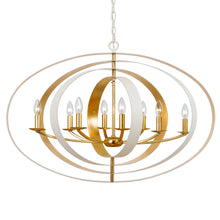 Luna Eight Light Oval Chandelier by Crystorama