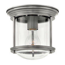 Hinkley - 3300AN-CL - One Light Flush Mount - Hadley - Antique Nickel with Clear