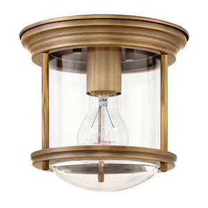 Hinkley - 3300BR-CL - One Light Flush Mount - Hadley - Brushed Bronze with Clear