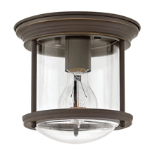 Hinkley - 3300OZ-CL - One Light Flush Mount - Hadley - Oil Rubbed Bronze with Clear