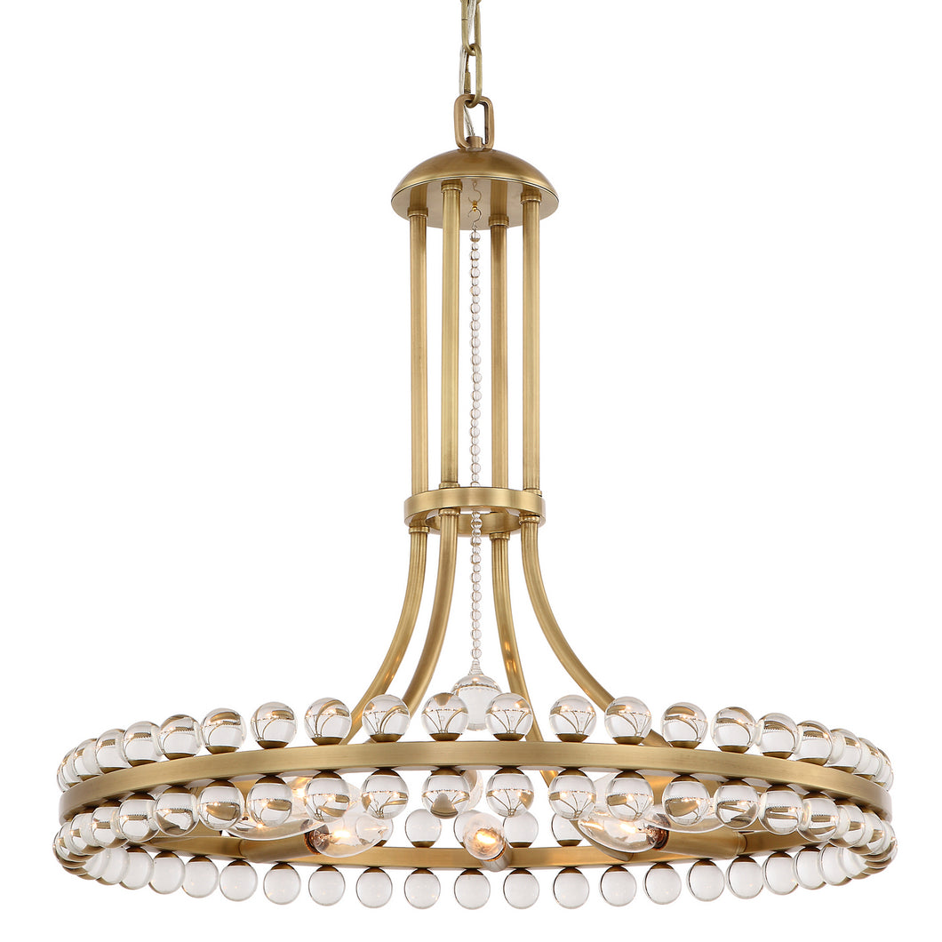 Clover Eight Light Chandelier by Crystorama