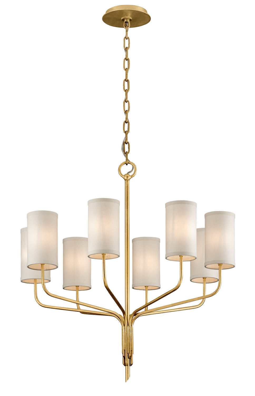 Juniper Eight Light Chandelier by Troy Lighting