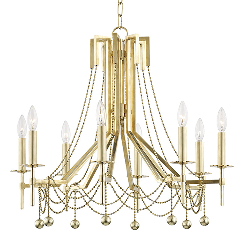 Zariah Eight Light Chandelier by Hudson Valley