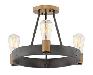 Silas Three Light Foyer Pendant by Hinkley