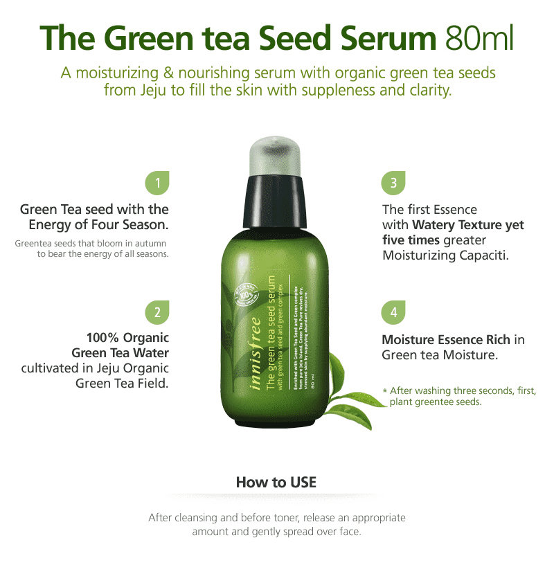 Innisfree Green Tea Seed Serum HooksKorea