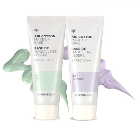 TheFaceShop Air Cotton Make Up Base SPF30 PA++ (40ml), Makeup, THE FACE SHOP, www.hookskorea.com - www.hookskorea.com