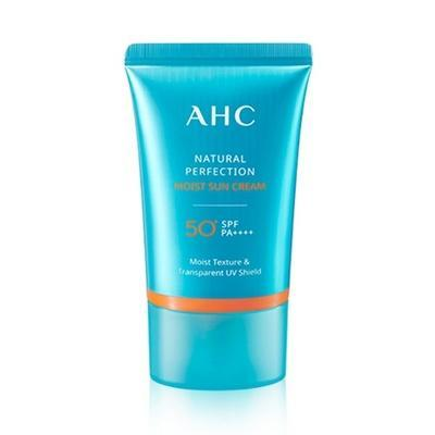 AHC Natural Perfection Moist Sun Cream (SPF50+ PA++++) 50ml, Sunscreen, AHC, www.hookskorea.com - www.hookskorea.com