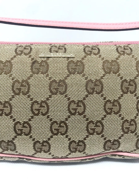 GUCCI - BEIGE AND PINK MINI BAGUETTE BAG
