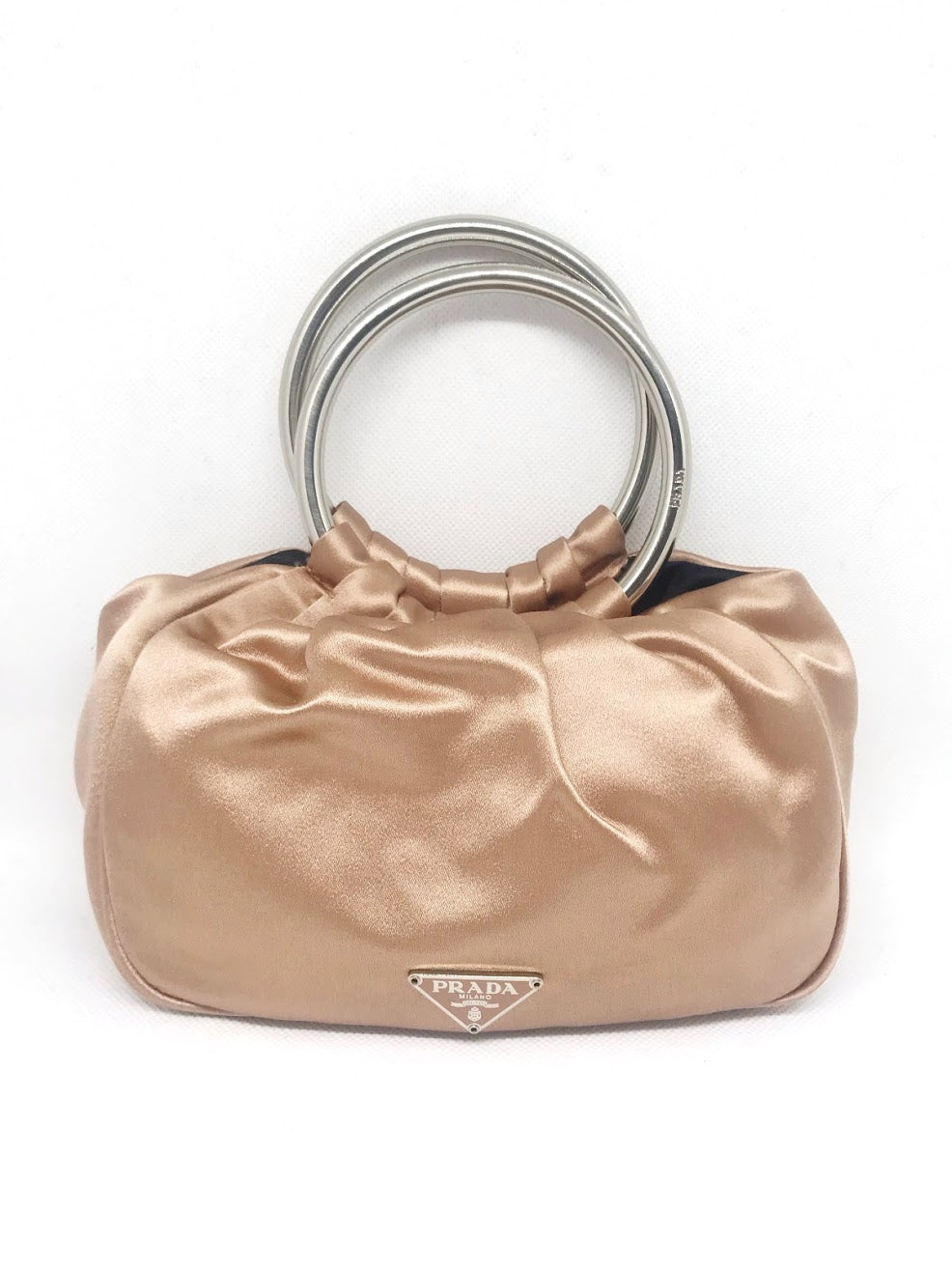 PRADA - PINK SATIN MINI BAG