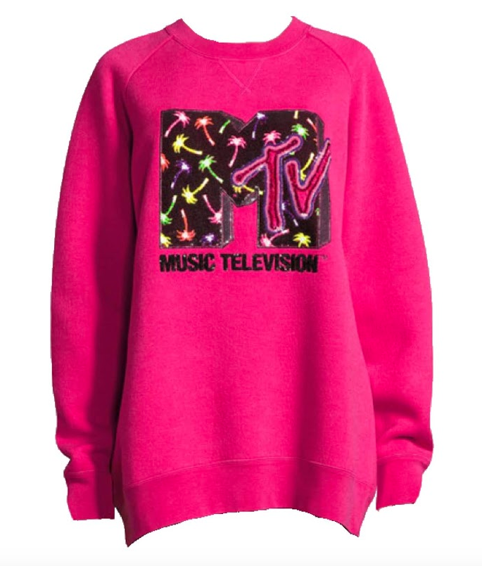 MARC JACOBS - MTV LOGO OVERSIZE PINK SWEATER
