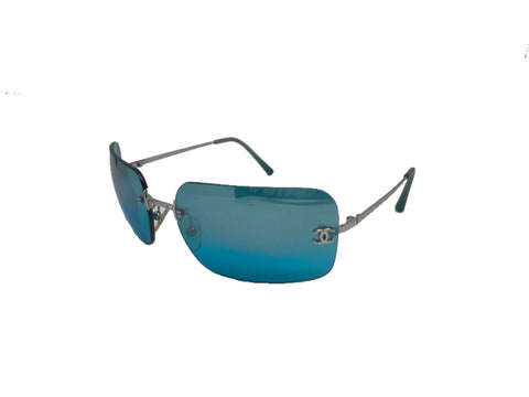 CHANEL - TEAL MIRROR RIMLESS 4017 SUNGLASSES