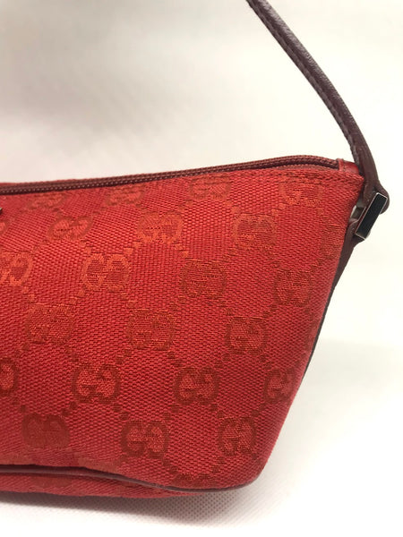 GUCCI - RED MINI BAGUETTE BAG