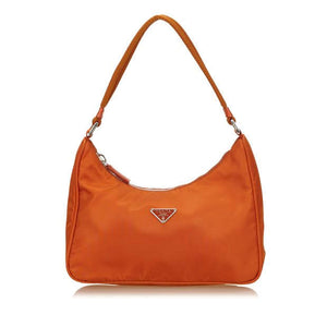 PRADA - MINI TESSUTO ORANGE HOBO BAG