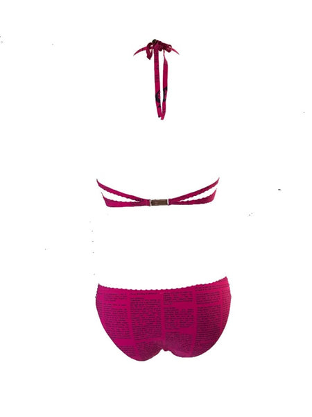 JOHN GALLIANO - PINK GAZETTE BIKINI