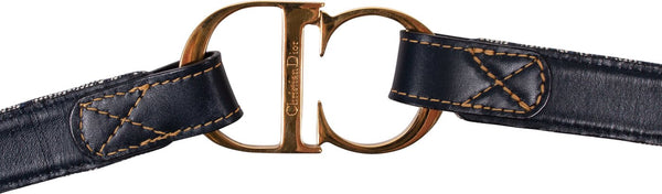 DIOR - OBLIQUE LOGO BUCKLE BELT