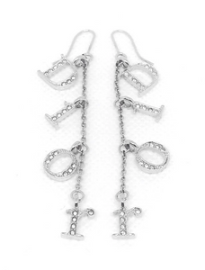 DIOR - DANGLE LOGO EARRINGS